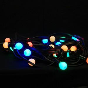 Snoerverlichting met gekleurde ledlampen