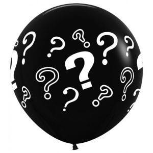 jongen of meisje topballon gevuld met confetti en helium