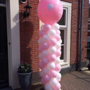 ballon pilaar meisje