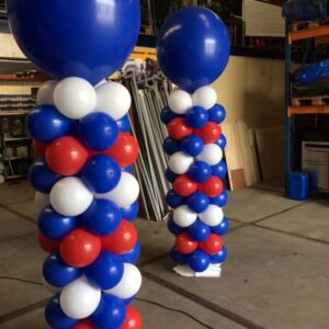ballon pilaar rood wit blauw