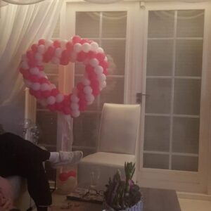 ballonnen hart op voet